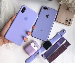 girls, iphone, and purple image