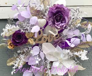 bedroom decor, floral wreath, and party decor image