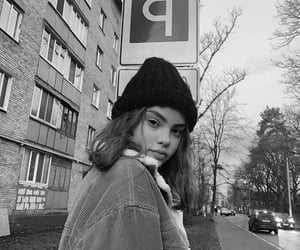 girl, b&w, and black and white image