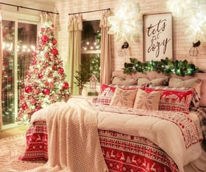 bedroom, christmas, and Christmas time image