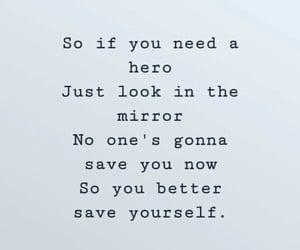feeling, hero, and mirror image