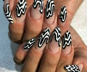 nails, black, and tumblr image