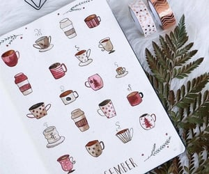 coffee, december, and bullet journal image