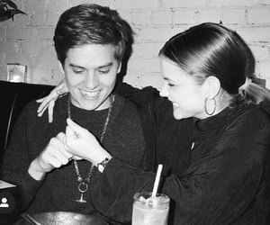 black and white, couple, and dylan sprouse image