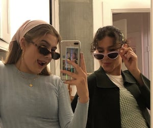 best friends, fashionable, and friendship image