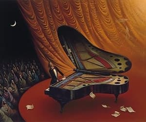 butterfly, piano, and vladimir kush image
