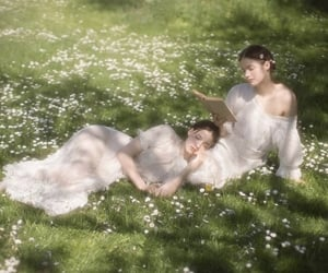 ethereal, flowers, and lush image