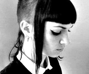 girl, black and white, and skinhead image