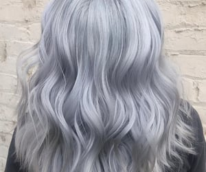 colored hair, gray hair, and hair image