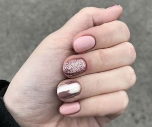 nails, manicure, and pink nails image