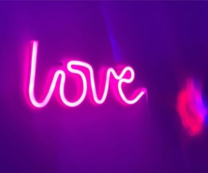 neon, pink, and sign image