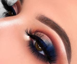 beauty, lashes, and eye shadow image