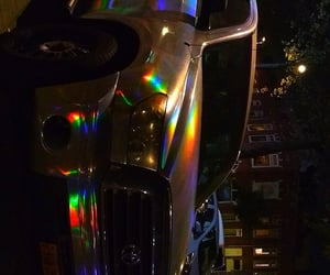 car, colors, and rainbow image