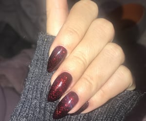 long nails, nails, and red nails image
