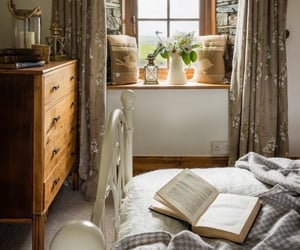 bedroom, home decor, and farmhouse style image