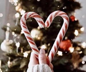 christmas, lights, and heart image