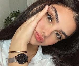 girl, beauty, and brunette image