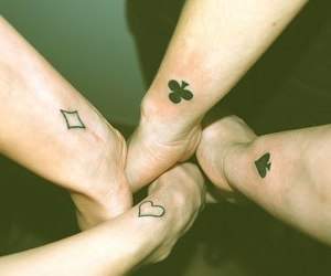 cards, spades, and Tattoos image