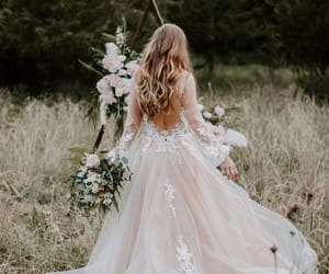 wedding dresses, lace wedding dress, and bridal gowns image