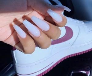 nails, white, and nike image