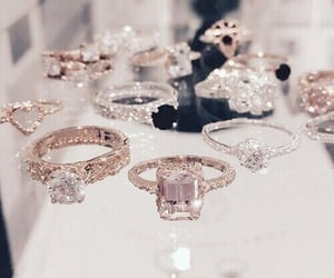 rings, diamond, and luxury image