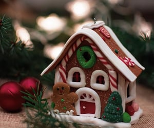 food, gingerbread house, and gingerbread image