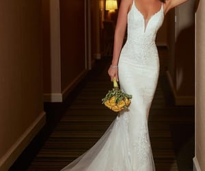dress, goals, and wedding image