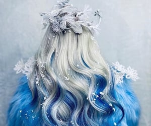 beauty, blue, and hairpiece image