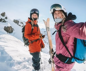 hike, Skiing, and moutain image