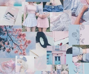 blue, pink, and wallpapers image