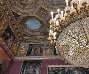 castle, chandelier, and details image