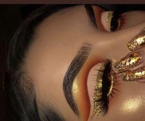 beautiful, girl, and glitter image