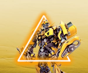 black, transformers, and yellow image