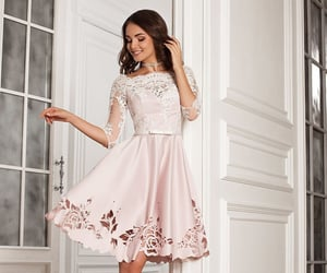 modest, brunette, and lace image