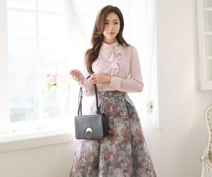 blouse, elegant, and floral skirt image