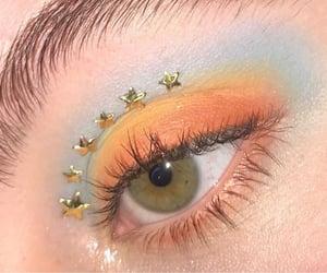 makeup, orange, and blue image