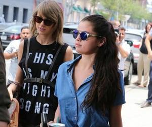 selena gomez, Taylor Swift, and taylena image