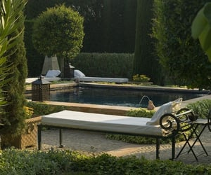 garden, pool, and summer image