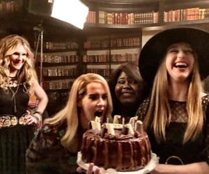 gabourey sidibe, lily rabe, and ahs coven image