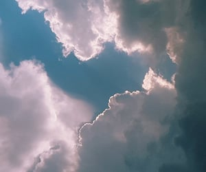 blue, blue sky, and clouds image
