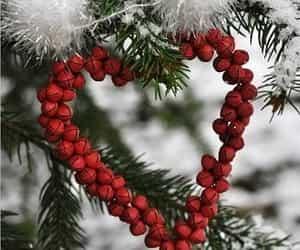 christmas, winter, and heart image