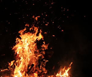 fire, night, and flame image