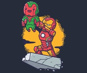 iron man, Marvel, and visione image