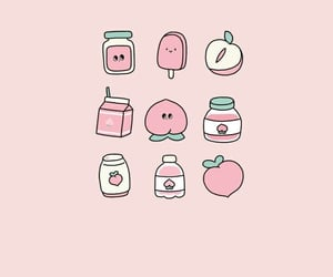 wallpaper, peach, and pink image