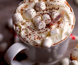 christmas, marshmallow, and hot ​chocolate image