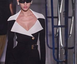 black, collar, and fashion image