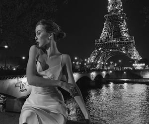 black and white, city, and paris image
