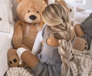 hair style, teddy bear, and lifestyle image