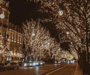 christmas, city, and street image