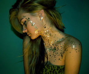 beautiful girl, cool, and glitter image